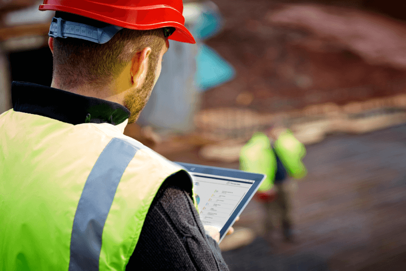 Construction Data on Tablet