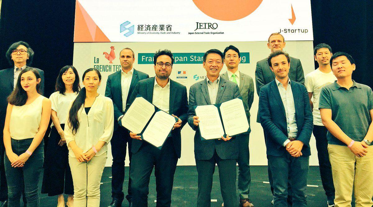 French and Japanese startups with Mounir Mahjoubi and Yoji Muto