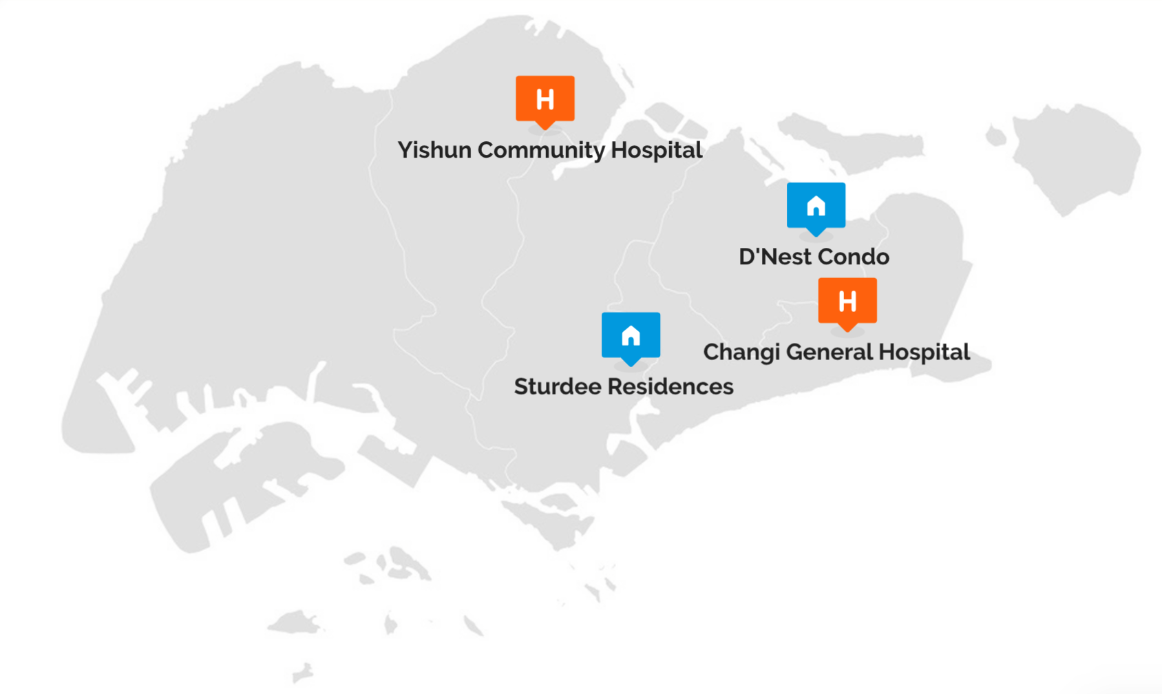 Click on the map to discover the Singaporean project stories run with Finalcad